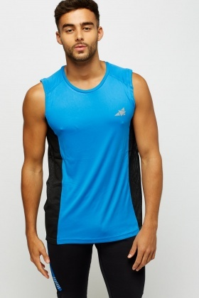Contrast Side Sport Tank Top