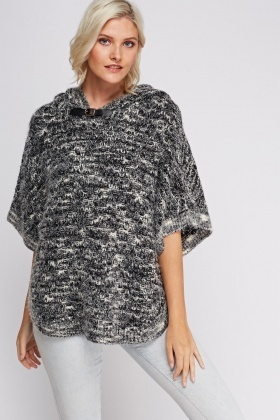 Speckle Hooded Poncho