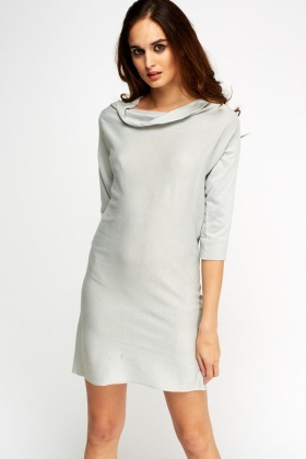 Cowl Neck Detailed Back Dress