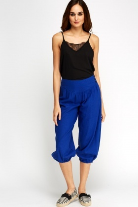 High Waist 3/4 Casual Trousers