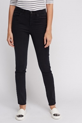 Juicy Couture Round Stud Embellished Skinny Jeans