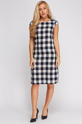 Checked Textured Dress