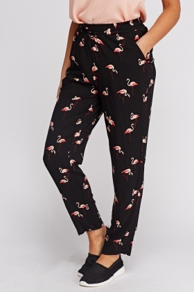 Flamingo Printed Casual Trousers