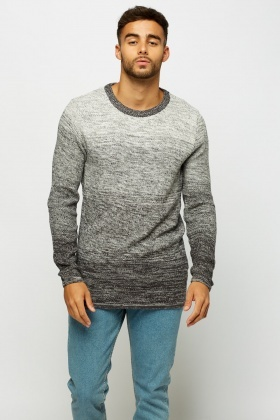 Speckled Knitted Ombre Jumper