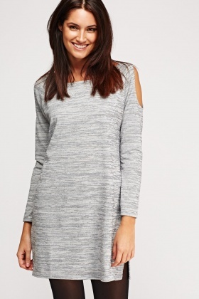 Cold Shoulder Speckle Tunic