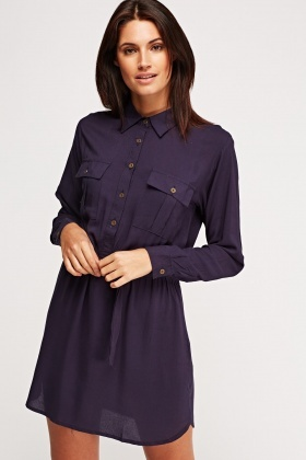 Long Sleeve Button Up Dress
