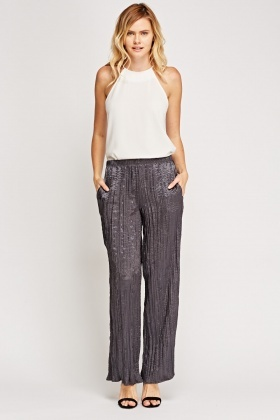 Straight Leg Pleated Trousers