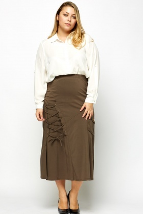 Tie Up Multi Pocket Skirt