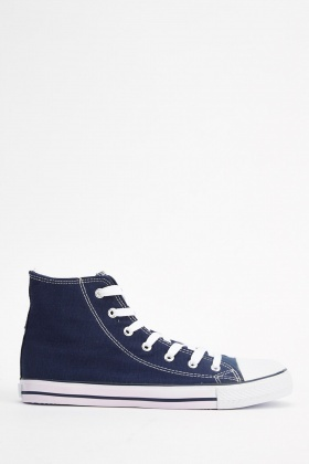 High Top Mens Canvas Trainers