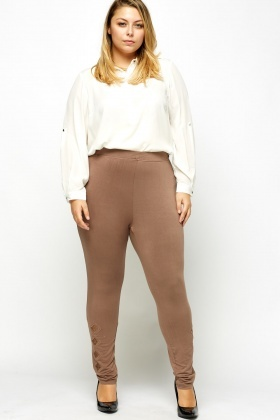 Lace Insert Hem Leggings