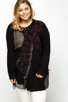 Contrast Patchwork Long Sleeve Top