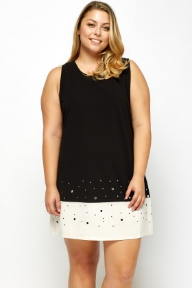 Embellished Hem Shift Dress