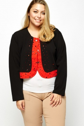 Embellished Trim Blazer