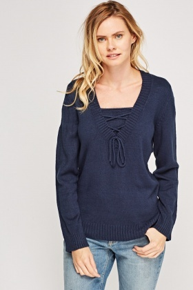 Tie Up Knitted Jumper