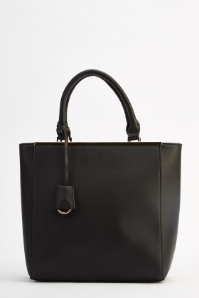 Mint Faux Leather Tote Bag