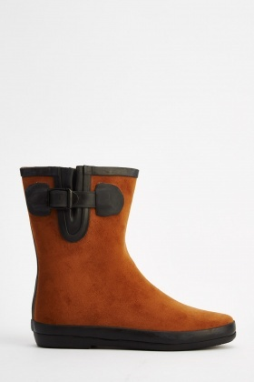 Suedette Welly Boots