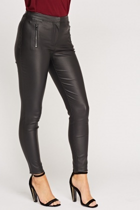 9c615f42b72a8 Black Faux Leather Trousers - Just £5