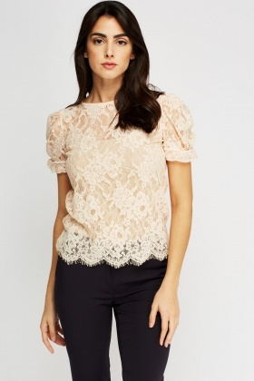 Floral Lace Casual Top