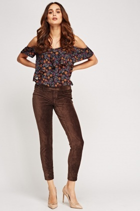 Cord Casual Leggings