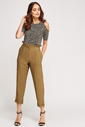 Detailed Waist Casual Trousers
