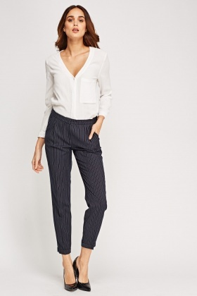 Pinstripe Formal Trousers