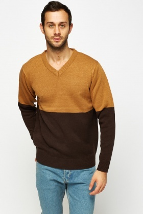 Colour Block Knitted Jumper