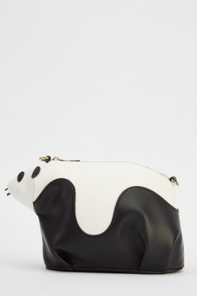 Panda Small Faux Leather Shoulder Bag