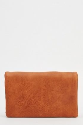 Small Faux Leather Basic Clutch Bag