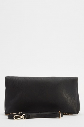 Small Faux Leather Clutch Bag