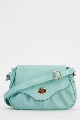 Small Mint Faux Leather Shoulder Bag