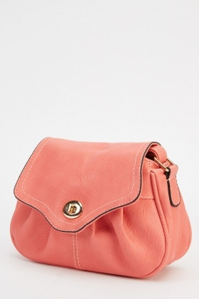Small Pink Faux Leather Shoulder Bag