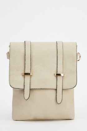 Twin Detailed Strap Shoulder Bag