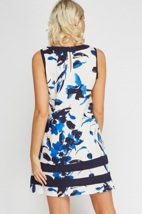 Mix Print Contrast Shift Dress