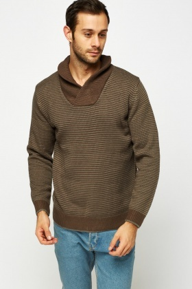 Thin Striped Knitted Jumper