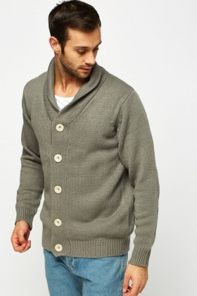 Button Up Front Knitted Cardigan
