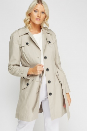 Classic Button Up Trench Coat