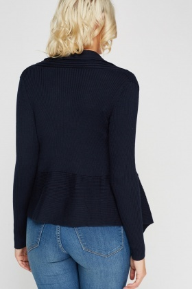 Knitted Ribbed Cardigan