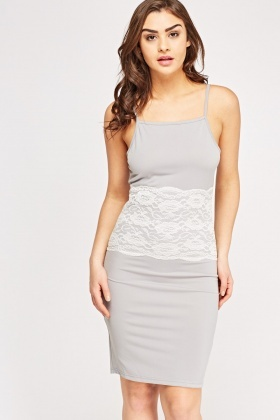 Lace Insert Mini Cami Dress