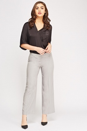 Wide Leg Formal Trousers
