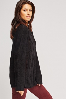 Loose Cable Knit Casual Jumper