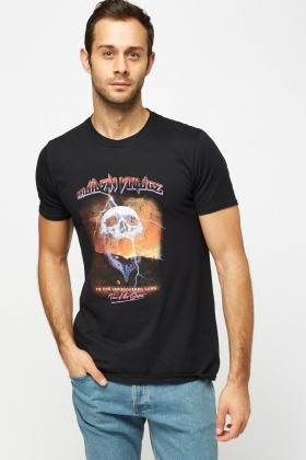 Skull Printed Cotton T-Shirt