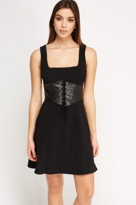 Tie Up Corset Dress