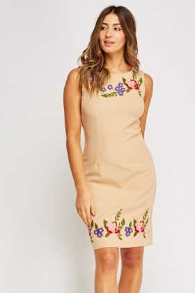 Floral Embroidered Shift Dress