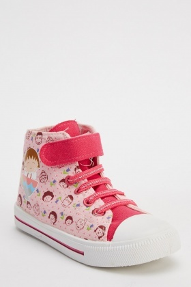 Girls Printed Ankle Shoes