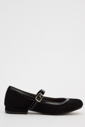 Suedette Contrast Girls Shoes