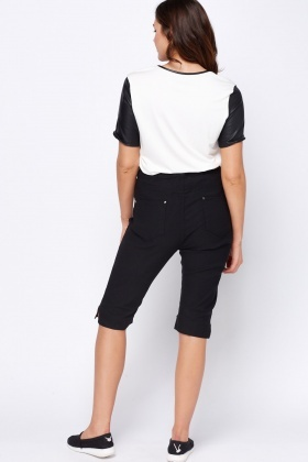 Black Cropped Jeggings