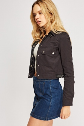 Cropped Casual Jacket