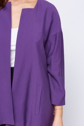 Open Front Purple Blazer
