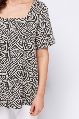 Square Neck Textured Top