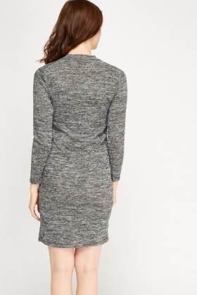 Metallic Speckled Choker Dress